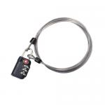 TSA 3-Dial Lock and Cable